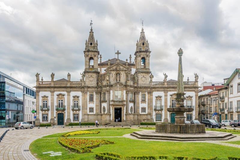 Kyrklig Sao Marcos i Braga - Portugal arkivfoton