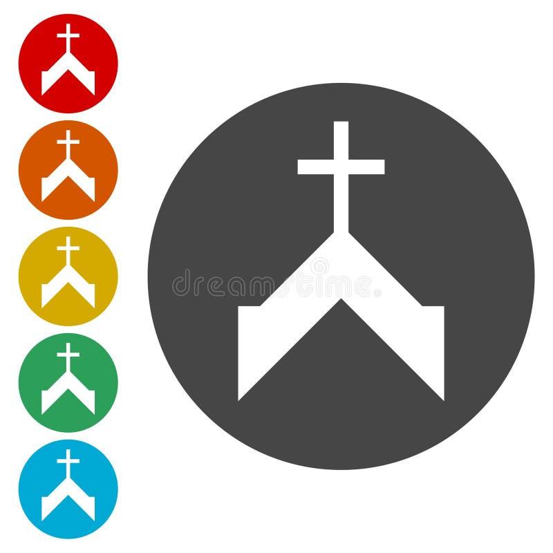 Kyrklig symbol för vektor royaltyfri illustrationer