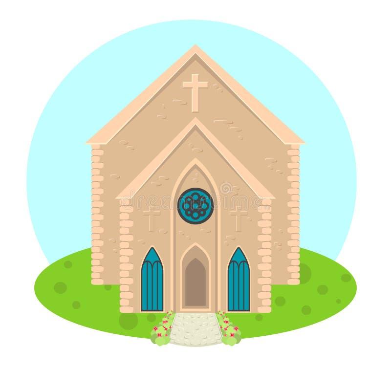 Kyrklig symbol för vektor stock illustrationer