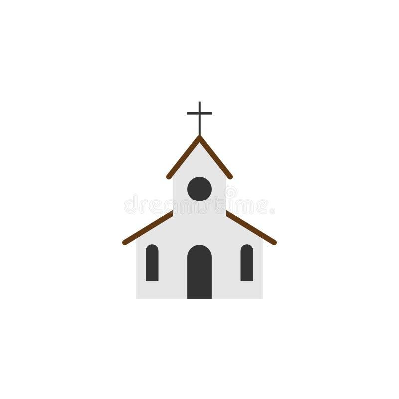 Kyrklig symbol Plan stil stock illustrationer