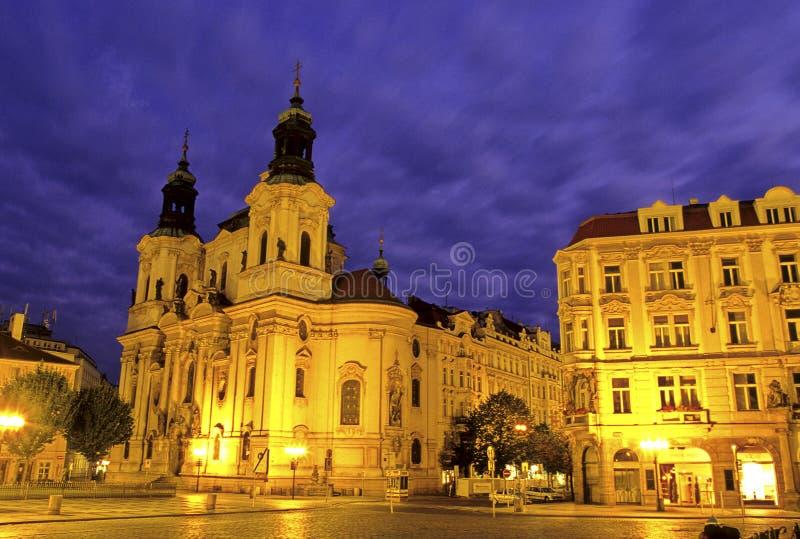 kyrklig tjeckisk prague republik royaltyfri foto