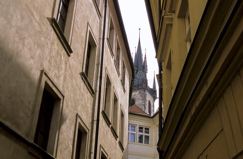 kyrklig tjeckisk prague republiktyn royaltyfri fotografi