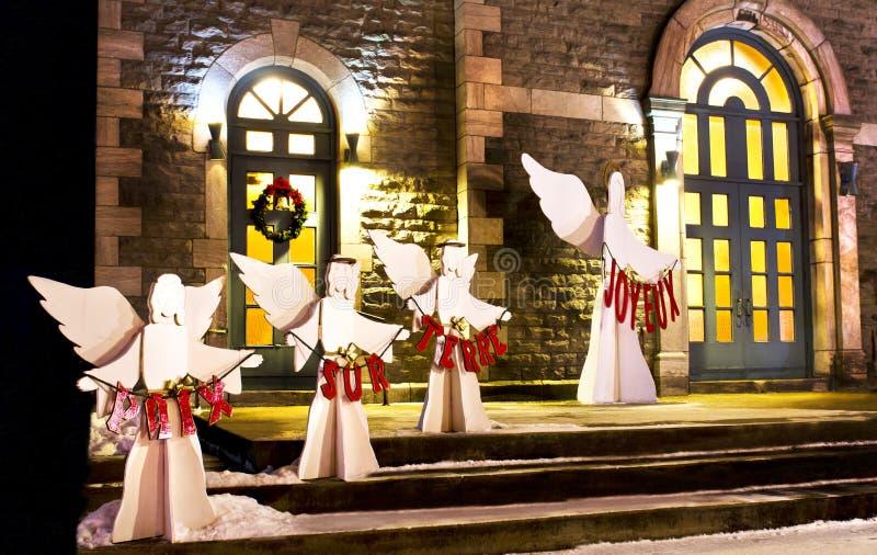 Kyrkliga änglar arkivbild