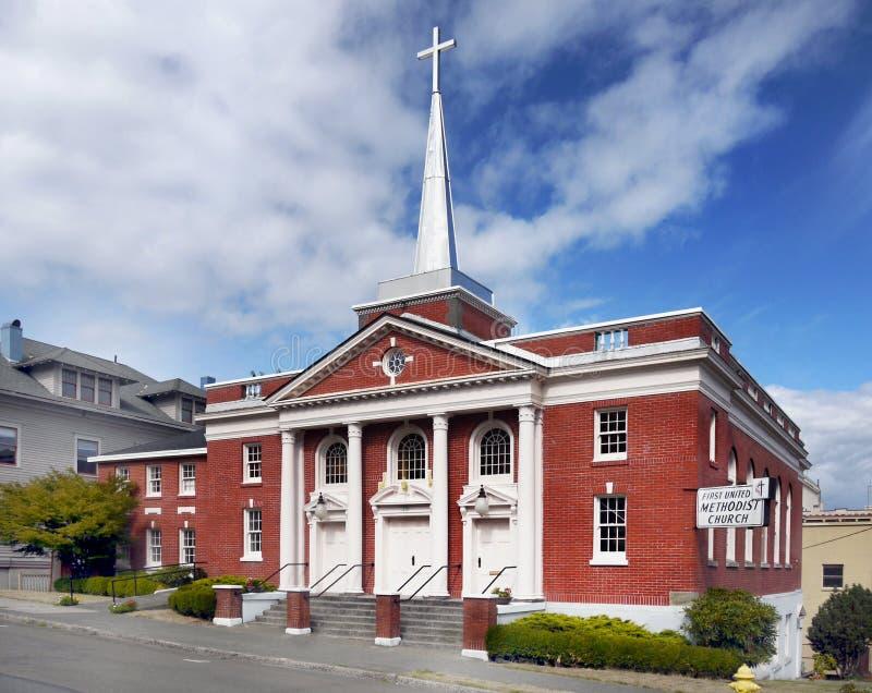 Kyrkliga Astoria, Oregon Förenta staterna royaltyfria foton