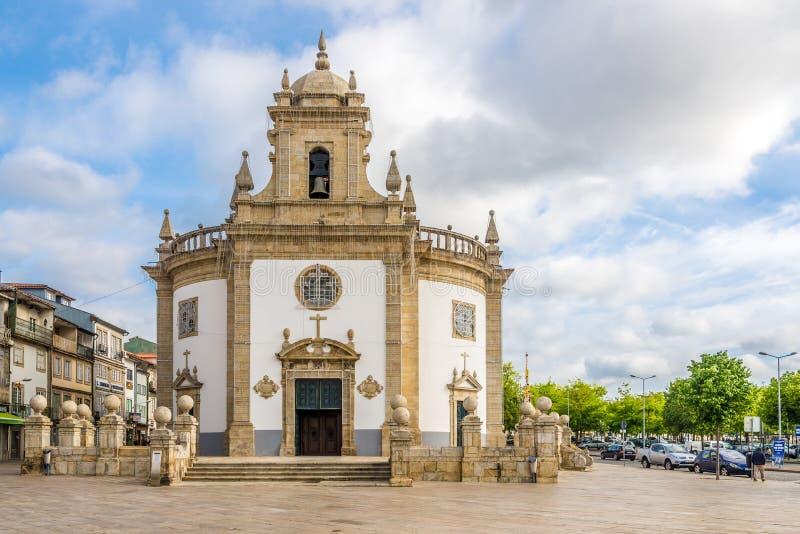 Kyrkliga Bom Jesus da Cruz i Barcelos - Portugal arkivfoton