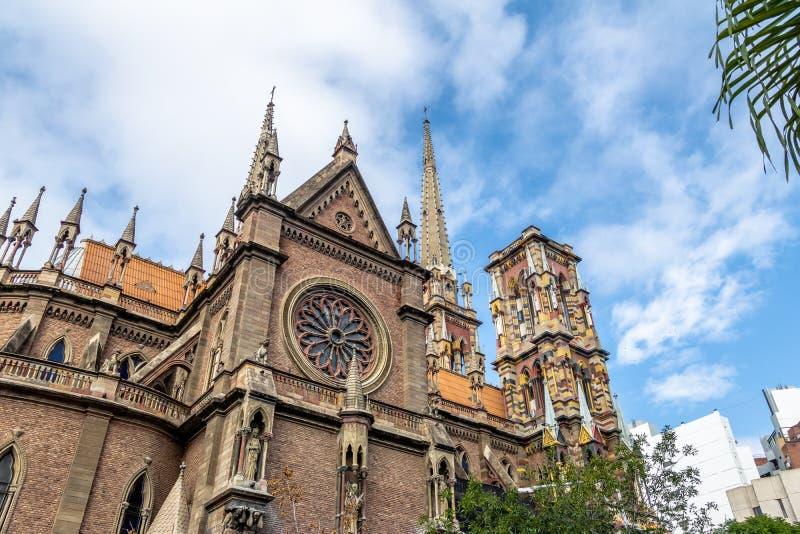 Kyrkliga Capuchins eller sakral hjärtakyrka Iglesia del Sagrado Corazon - Cordoba, Argentina royaltyfria bilder