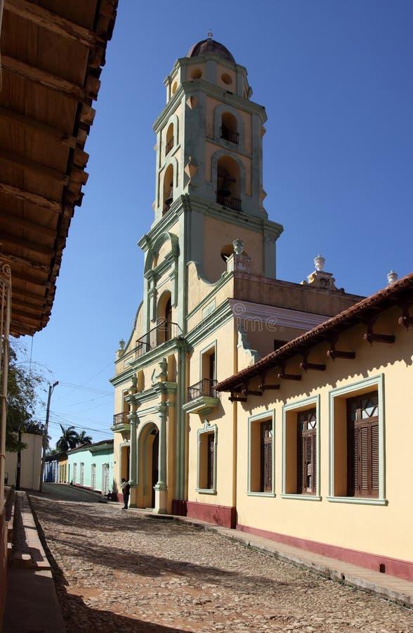 kyrkliga cuba francisco san trinidad royaltyfri bild