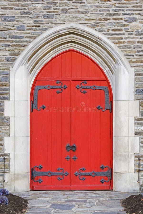kyrkliga dörrar royaltyfria bilder