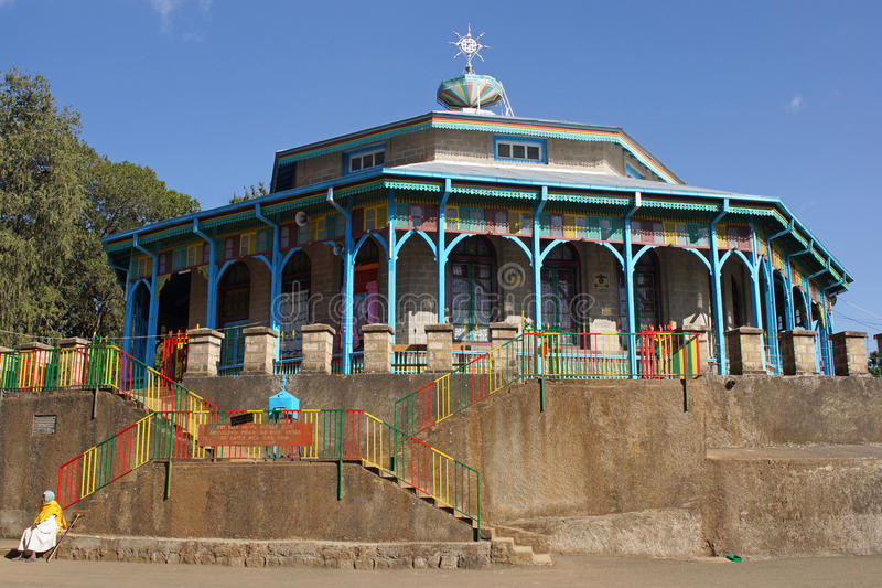 Kyrkliga Entoto Maryam, Addis Ababa, Etiopien royaltyfria bilder