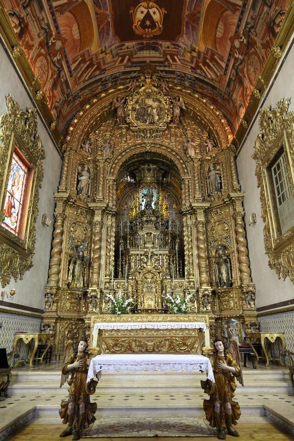 kyrkliga faro portugal arkivbild