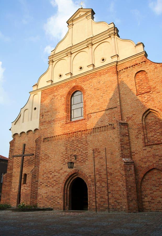 kyrkliga gotiska poznan royaltyfria foton