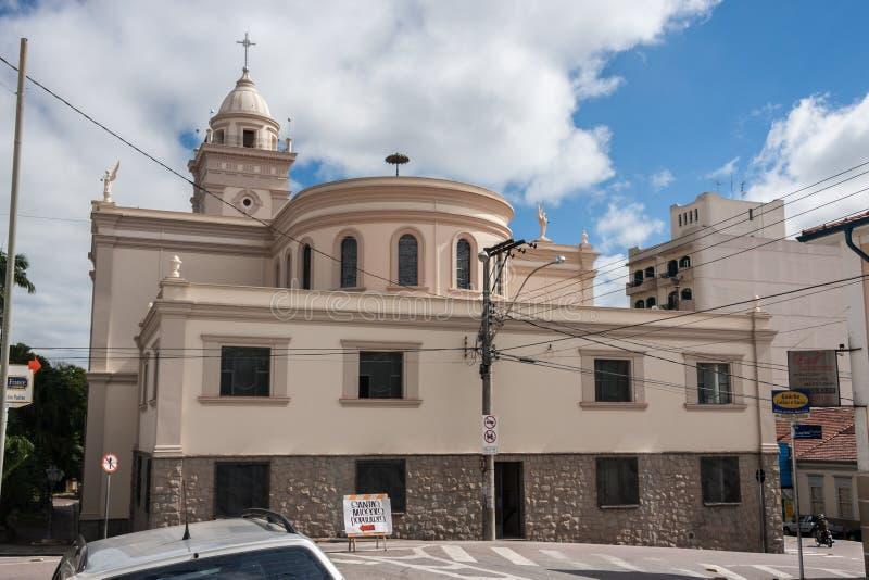 Kyrkliga Itatiba Sao Paulo royaltyfria foton