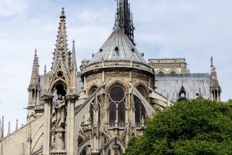 Kyrkliga Notre Dame i Paris royaltyfri bild