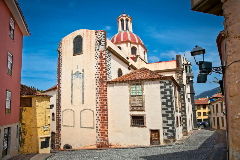 Kyrkliga Parroquia de La Concepcion i Orotava, Tenerife, Spanien. royaltyfri bild