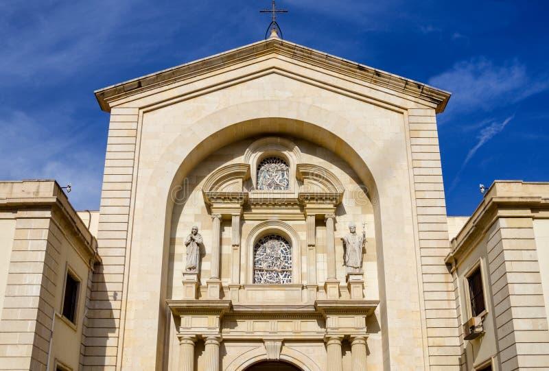 Kyrkliga Parroquia Nuestra Senora de Gracia i Alicante, Spanien royaltyfri bild