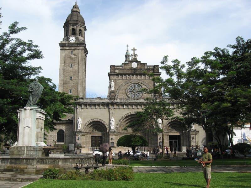 Kyrkliga San Agustin, Intramuros gammal walled stad, Manila, Filippinerna royaltyfria bilder