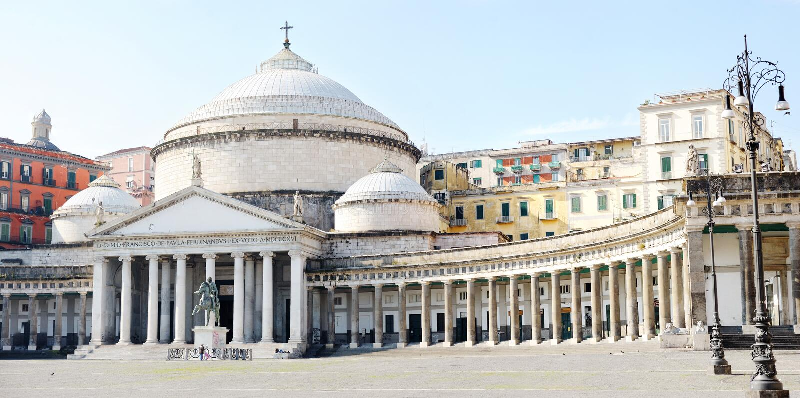 Kyrkliga San Francesco di Paola, Naples arkivfoton