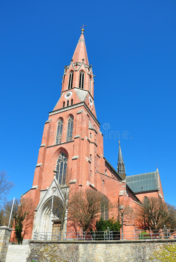 Kyrkliga Sankt Nikolaus i Zwiesel, Bayern arkivbild