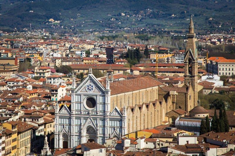 Kyrkliga Santa Croce i Florence arkivfoton