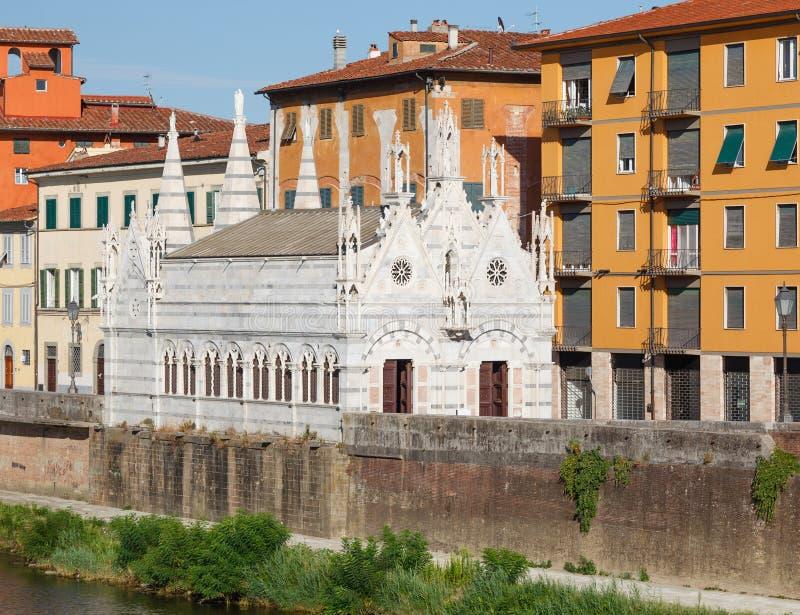 Kyrkliga Santa Maria della Spina, Pisa, Italien arkivbild