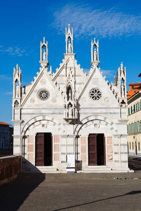 Kyrkliga Santa Maria della Spina, Pisa, Italien royaltyfri fotografi