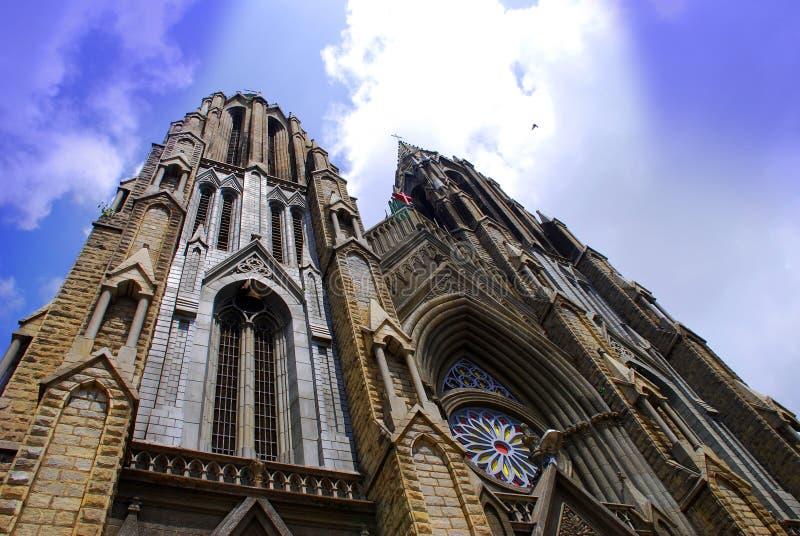 kyrkliga spires royaltyfri fotografi