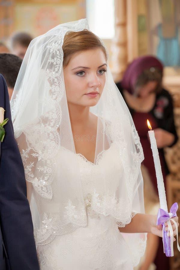 kyrkligt bröllop för ceremoni royaltyfria bilder