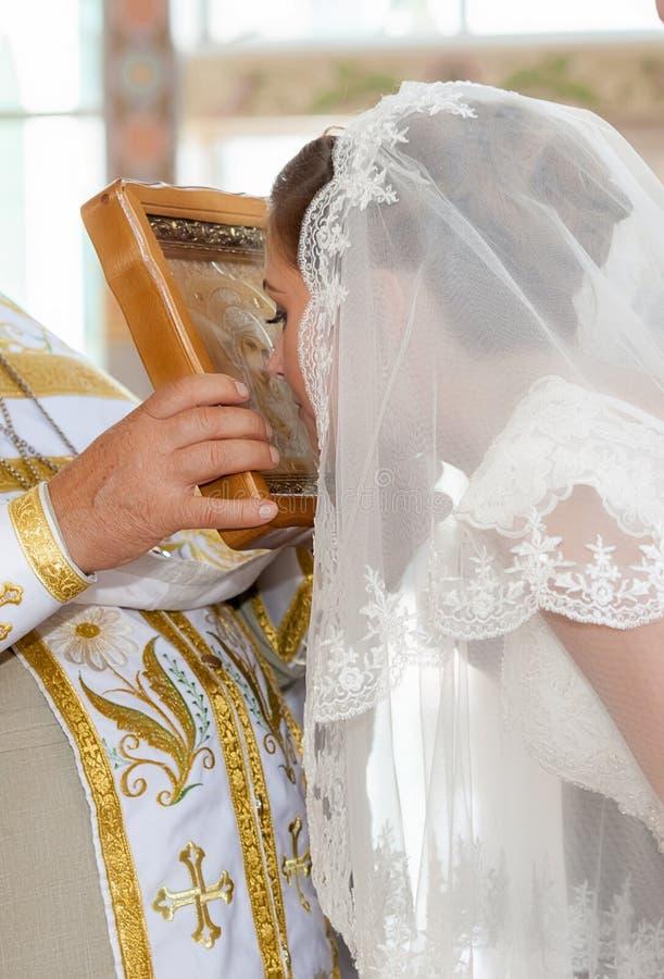 kyrkligt bröllop för ceremoni royaltyfri bild