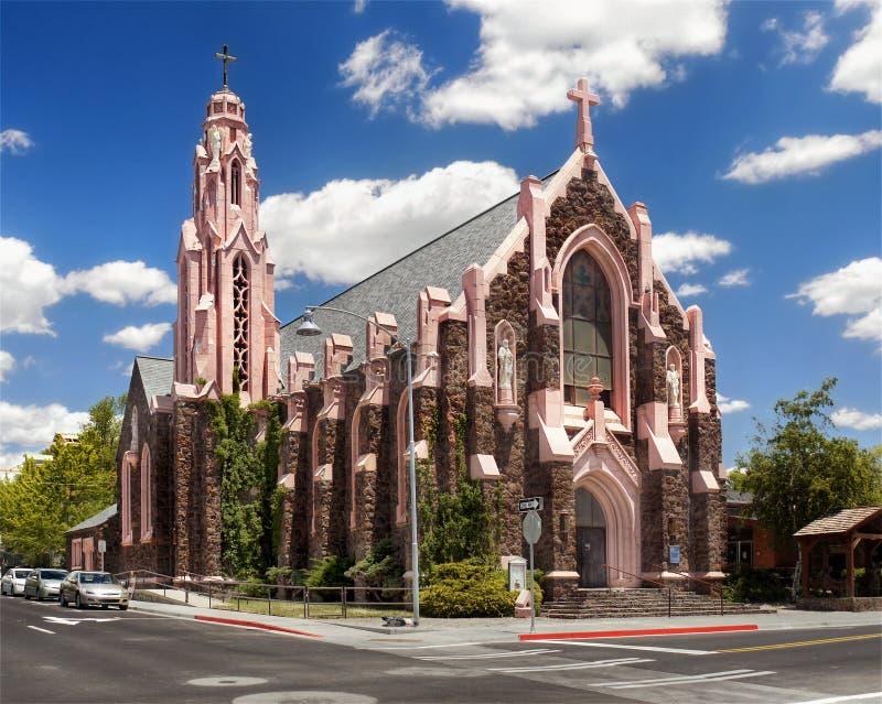 Kyrkligt centrum för flaggstång, Arizona, USA royaltyfria bilder