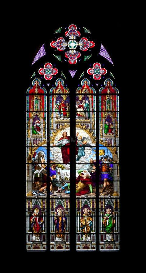 kyrkligt colognefönster royaltyfria bilder