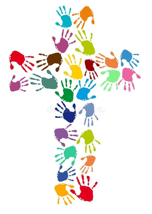 kyrkligt färgrikt stock illustrationer
