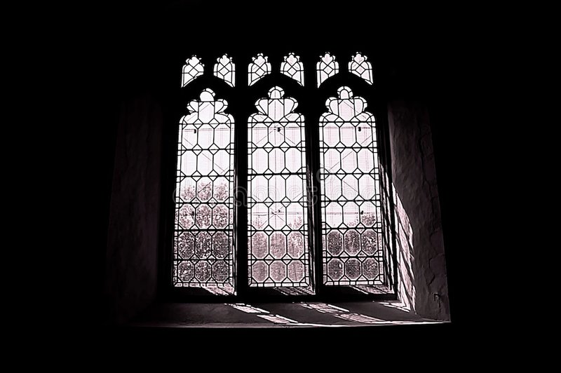 kyrkligt fönster a1 fotografering för bildbyråer