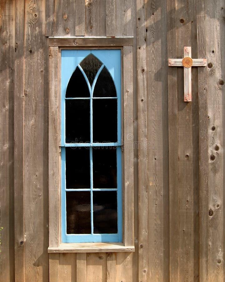 Kyrkligt Fönster För Blått Gratis Arkivbild