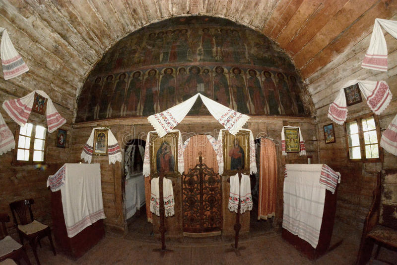 kyrkligt gammalt trä royaltyfri foto