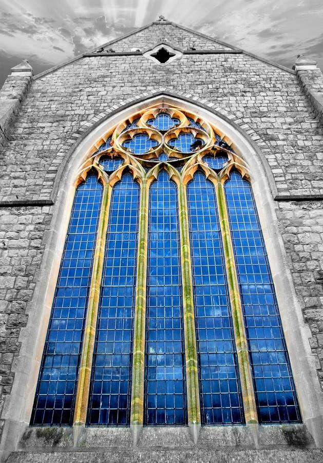 Kyrkligt glass fönster royaltyfria bilder