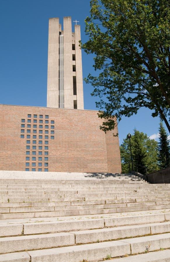 kyrkligt kors finland lahti royaltyfri foto