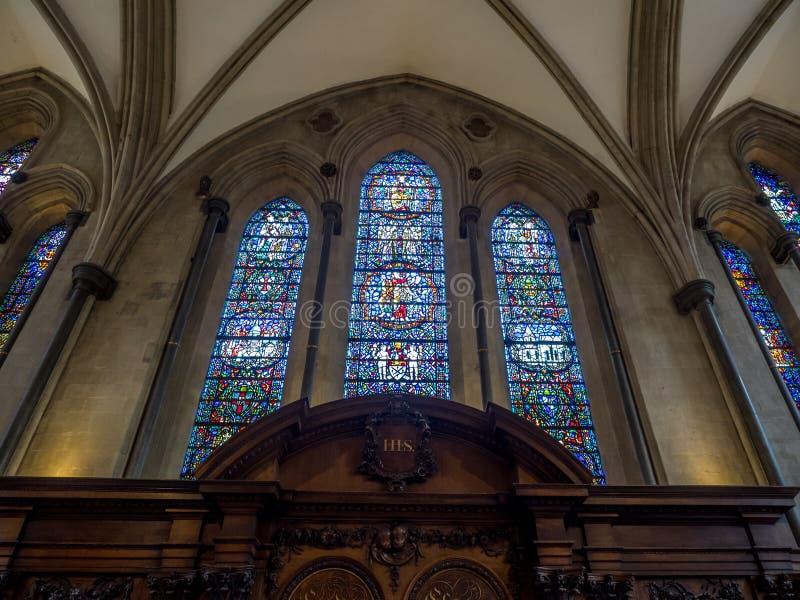 kyrkligt london tempel royaltyfria foton