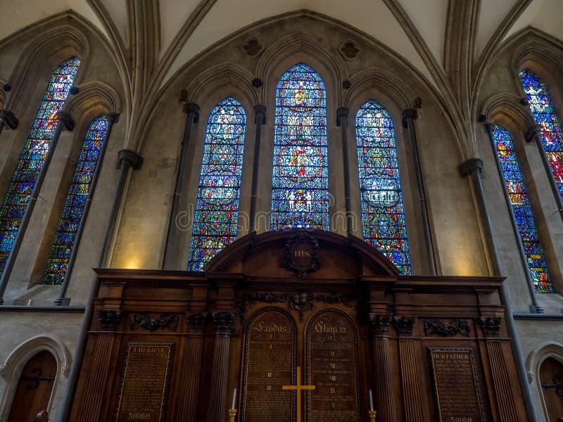 kyrkligt london tempel arkivbild