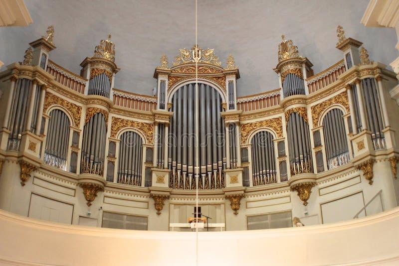 kyrkligt organ arkivfoton