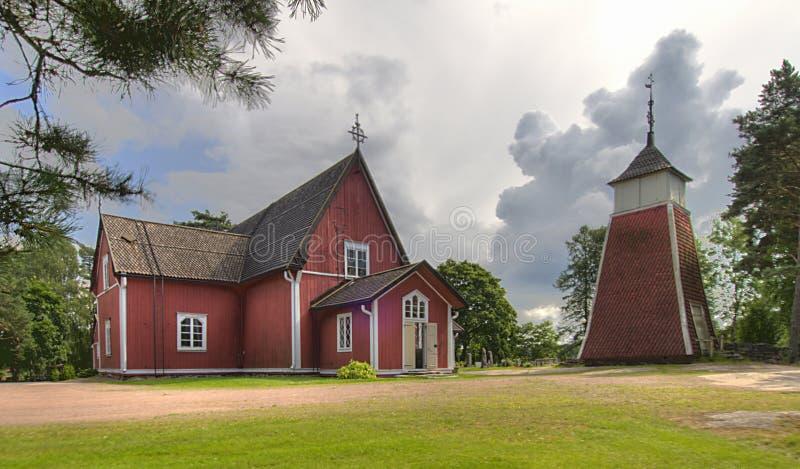 kyrkligt trä för skärgård arkivbilder