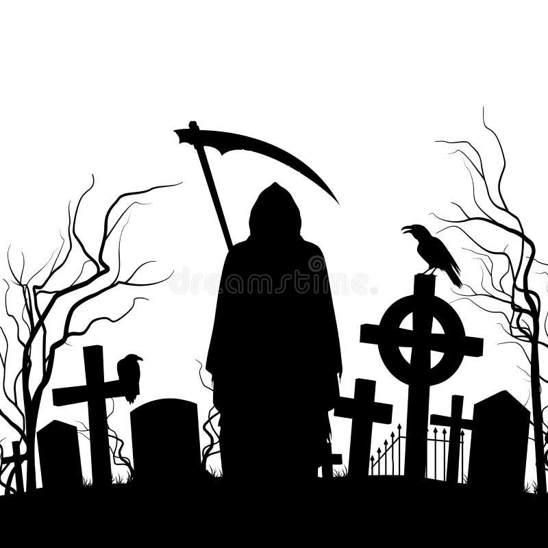 Kyrkogård royaltyfri illustrationer