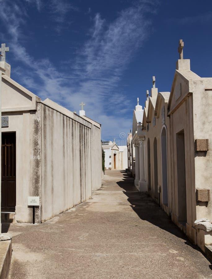 Kyrkogård av Bonifacio arkivfoto