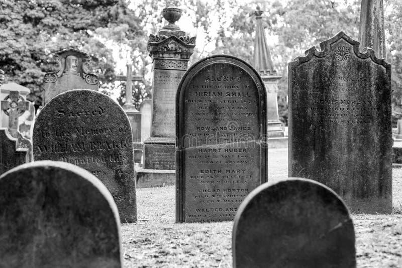 Kyrkogård för St Anne Church i Ryde, Australien arkivfoton