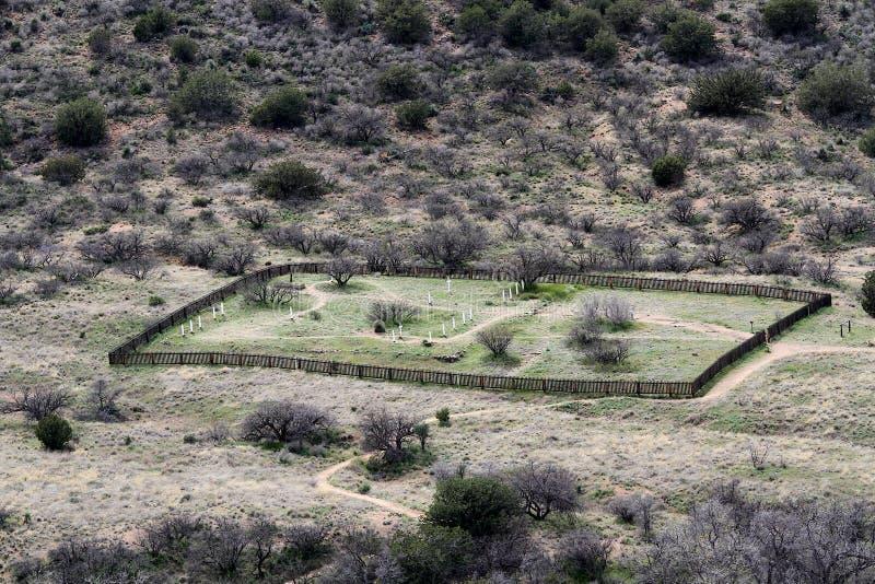 Kyrkogård på fortet Bowie National Monument arkivbilder