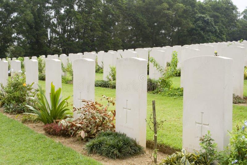 kyrkogården kriger arkivbilder