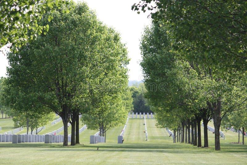 kyrkogårdnationalsaratoga arkivbild