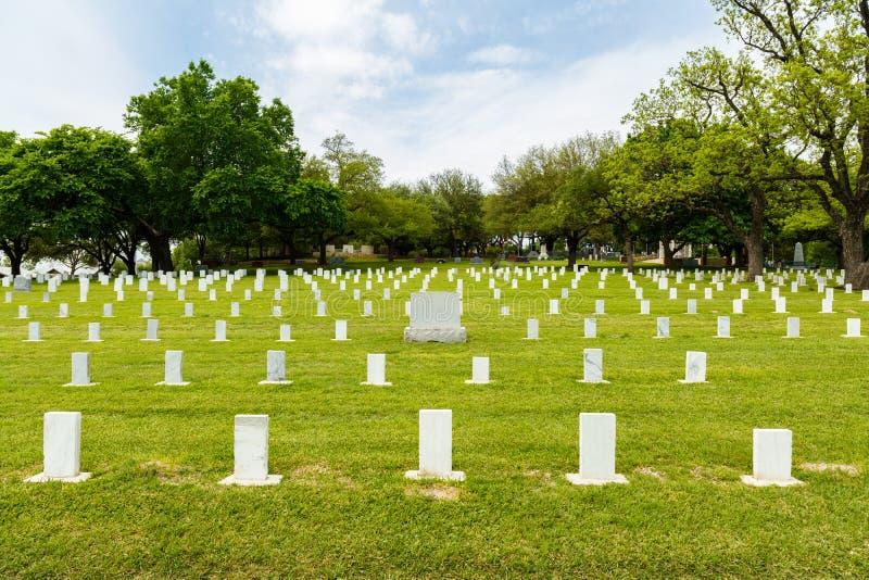 kyrkogårdtillstånd texas royaltyfri foto