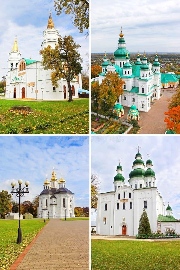 Kyrkor i Chernigiv, Ukraina royaltyfria bilder