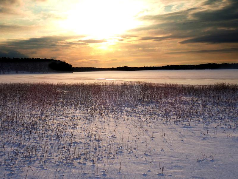 Kyrksjön_02 in Forsa - Hudiksvall lizenzfreies stockfoto