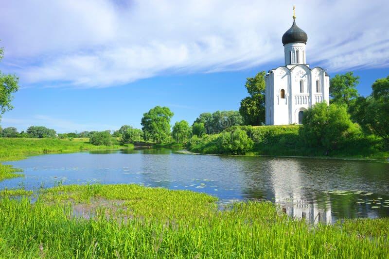kyrktaga intercessionnerl Ryssland byn Bogolyubovo fotografering för bildbyråer